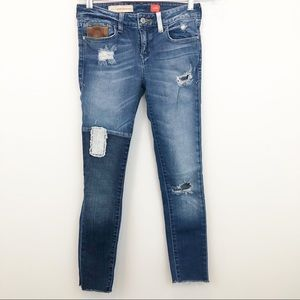 Pilcro and the Letterpress Distressed Skinny Jeans